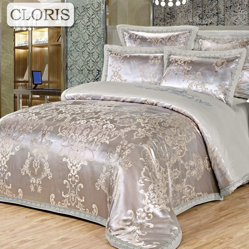 Cloris New Bedclothes Best Cotton Satin Bedding Sets 2018 High Quality Duvet Cover Bed Sheet King