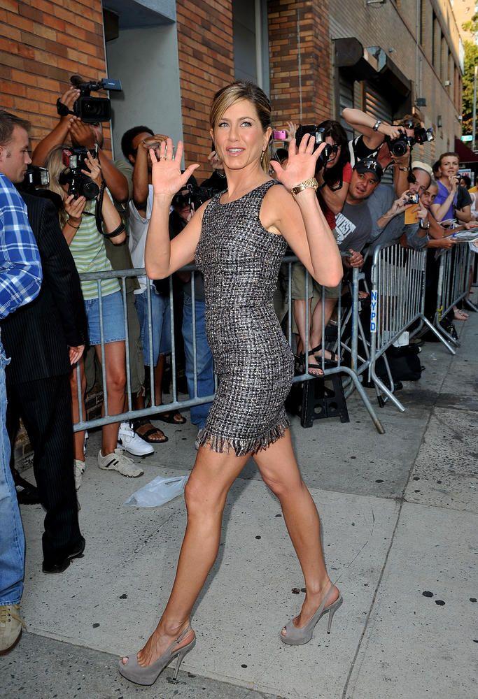 Jennifer Aniston No Panties Jennifer Aniston Visits The