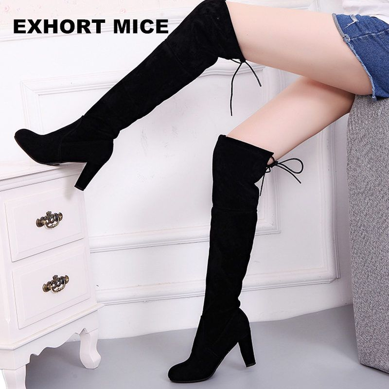 109a25aa569 Only US $14.99 Faux Suede Slim Boots Sexy over the knee high women ...