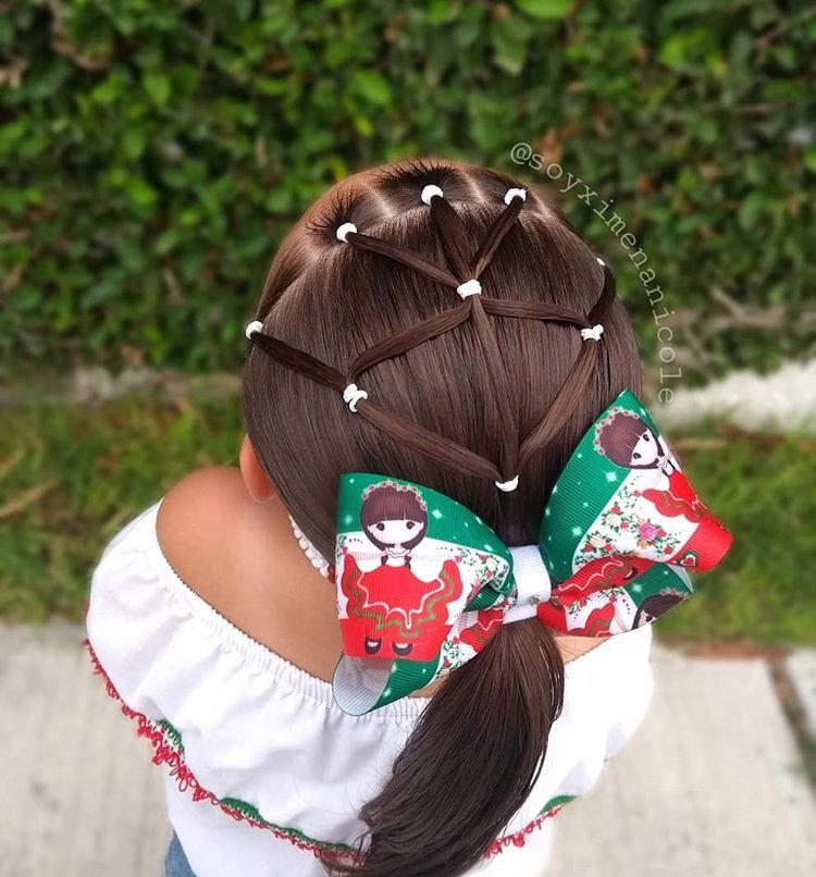 """🌈 𝑷𝒆𝒊𝒏𝒂𝒅𝒐𝒔 𝒑𝒂𝒓𝒂 𝒏𝒊𝒏̃𝒂𝒔 ⭐ On Instagram: """"✨ Hσℓα Cнιcαѕ ✨ Hoy Les Quiero Compartir Este Lindo Estilo Es Muy Fácil De Realizar &Amp; Se Mira Súper Bonito Utilizamos Colores Ideales Para…"""" - Hair Beauty"""