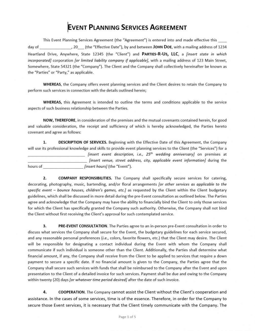 Get Our Sample Of Event Partnership Agreement Template For Free Event Planning Contract Contract Template Event Planning Template