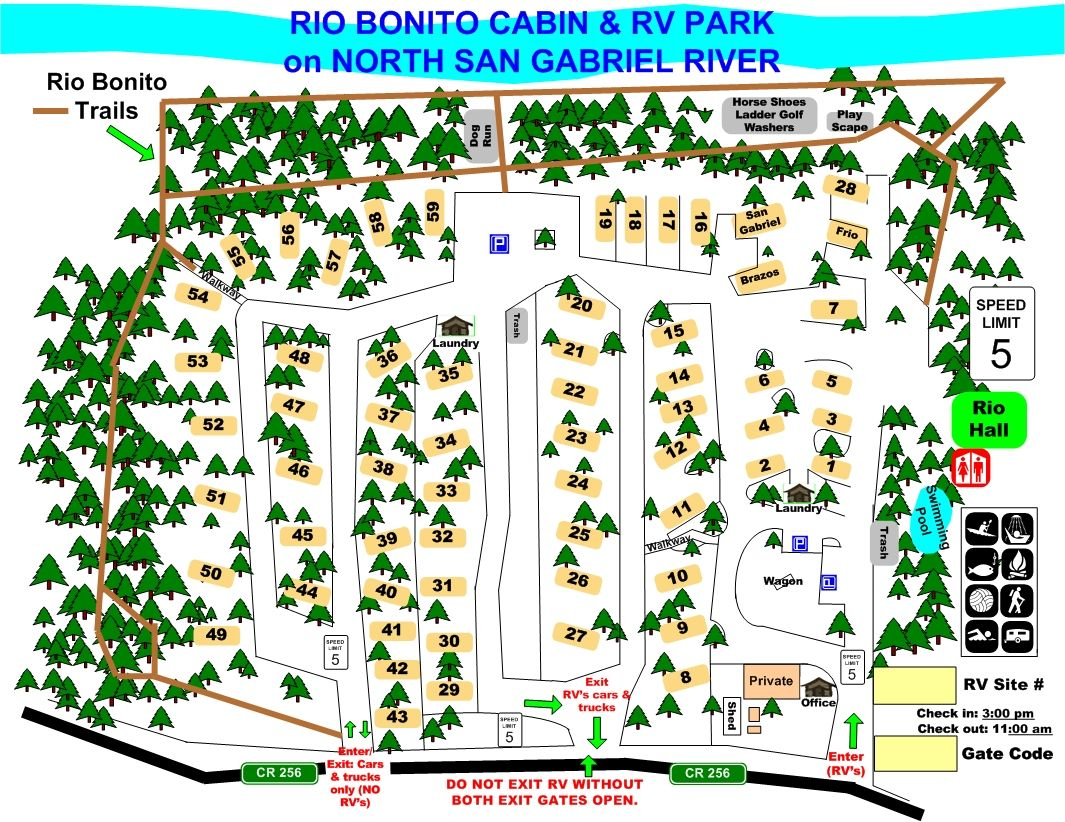 Rio Bonito Cabin And Rv Park Campground Central Texas Hill Country 20 Minutes From The Kids Rv Parks Rio Bonito Rv