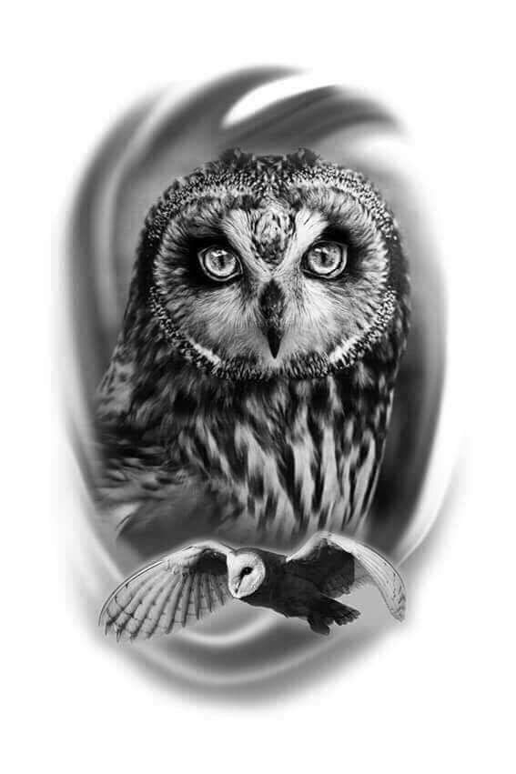 Corujas Tatuagem De Coruja Tatuagem Coruja Desenho Tatuagem