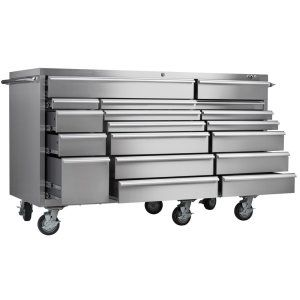 Best Deal And Review Viper Tool Storage VP7218SS PRO 72 Inch 18 Drawer 304  Stainless Steel Rolling Cabinet