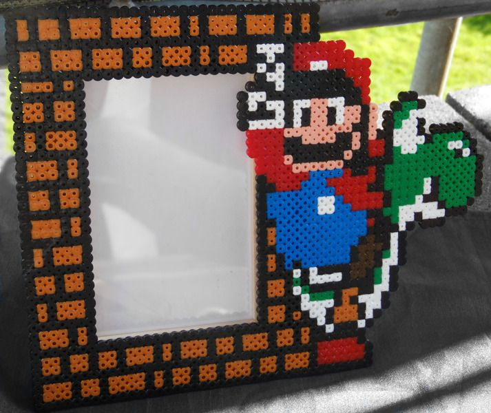 Super Mario Bilderrahmen 10x15 Aus Bugelperlen Super Cool Crafts