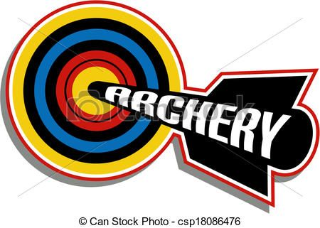 vector archery design stock illustration royalty free rh pinterest com archery clipart free archery clip art black and white