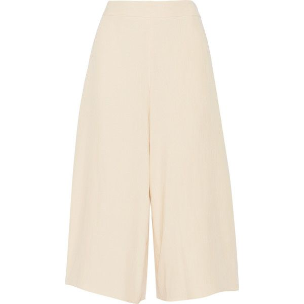 The Row Phene shantung culottes ($760) ❤ liked on Polyvore featuring shorts, pants, the row, culottes and culottes shorts