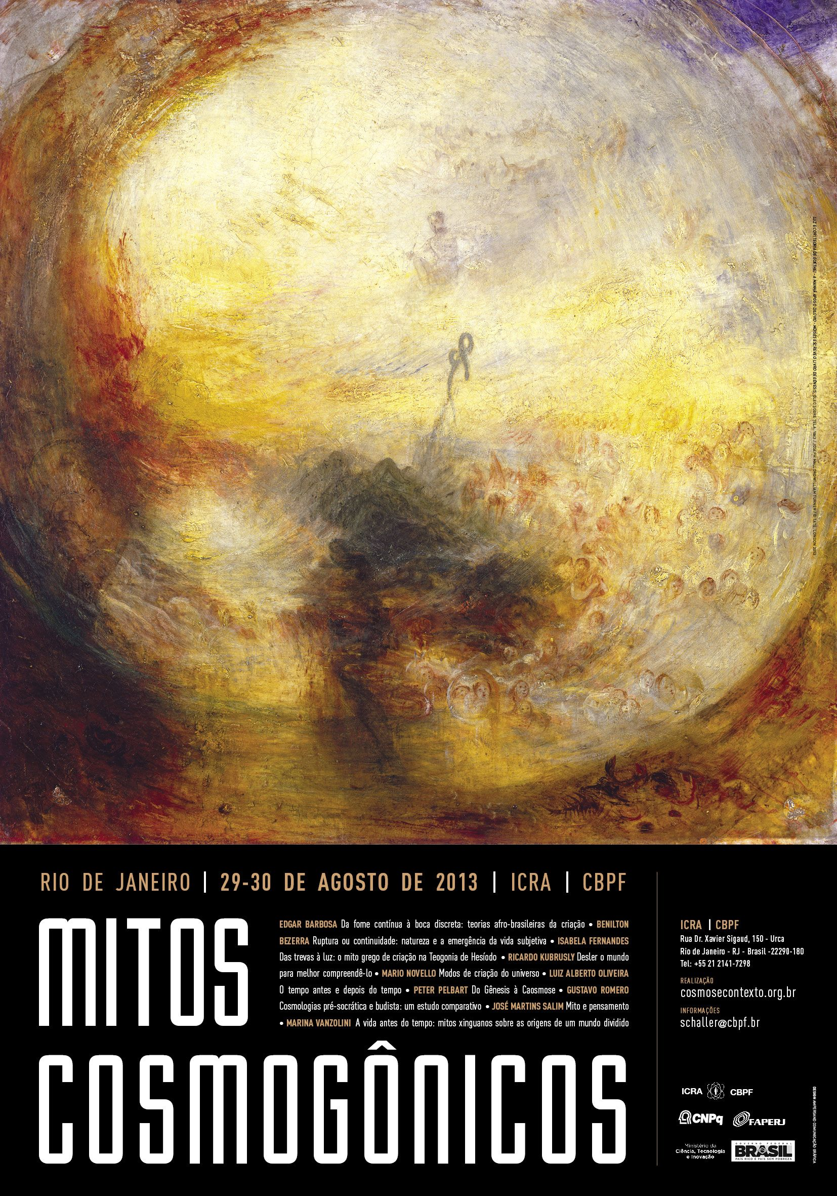 Evento: Mitos Cosmogônicos
