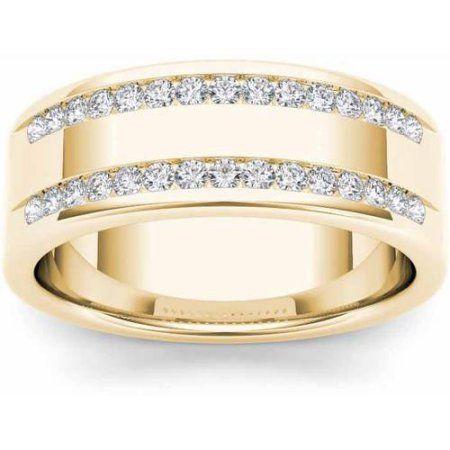Imperial Diamond 1 2 Carat T W Diamond Men S 14kt Yellow Gold Wedding Band Walmart Com In 2020 Gold Wedding Band Yellow Gold Wedding Band Rose Gold Wedding Bands