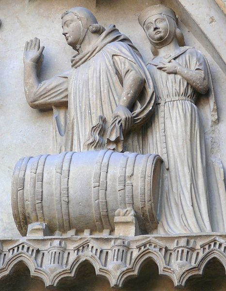 Sculpture In The North Facade Classic Gothic Period 13th Century Reims Cathedral France