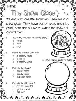 snowman activities snowmen reading comprehension worksheets school stuff reading. Black Bedroom Furniture Sets. Home Design Ideas