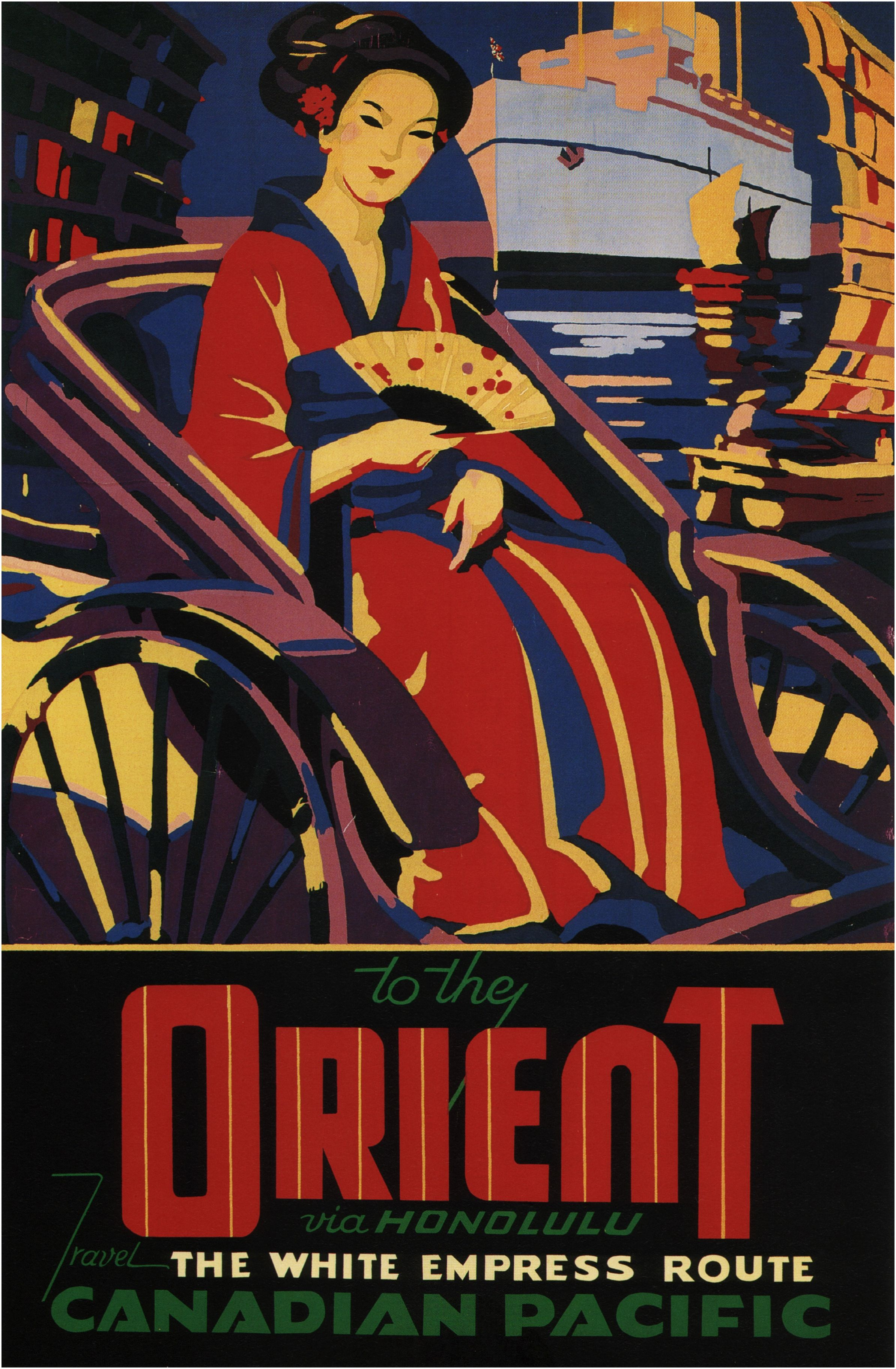 CANADA ..Vintage CANADIAN PACIFIC Art Deco Travel Poster A1A2A3A4Sizes
