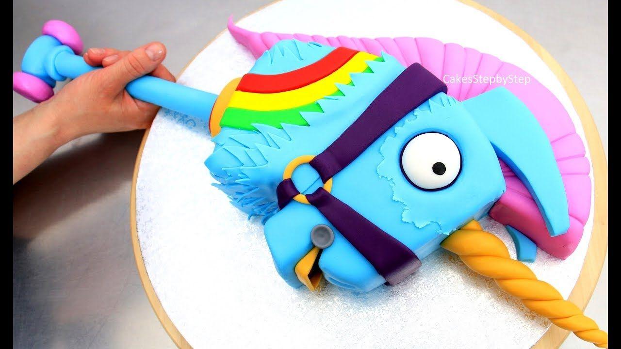 Fortnite Cake Rainbow Llama Unicorn Smasher How To By Cakes