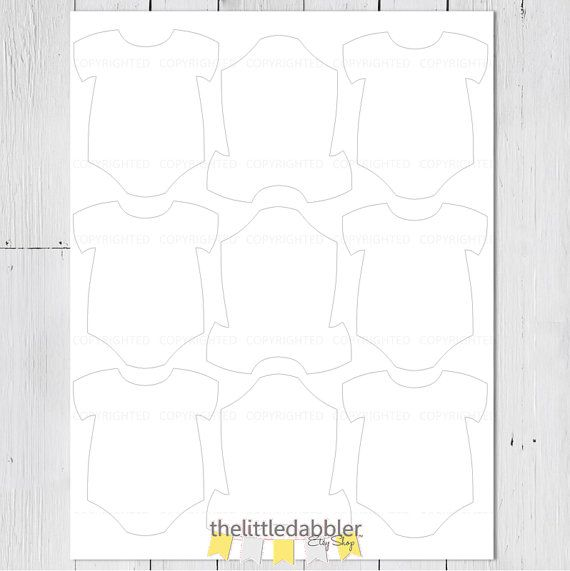 Printable Baby OnePiece Tag Template Png By Thelittledabbler