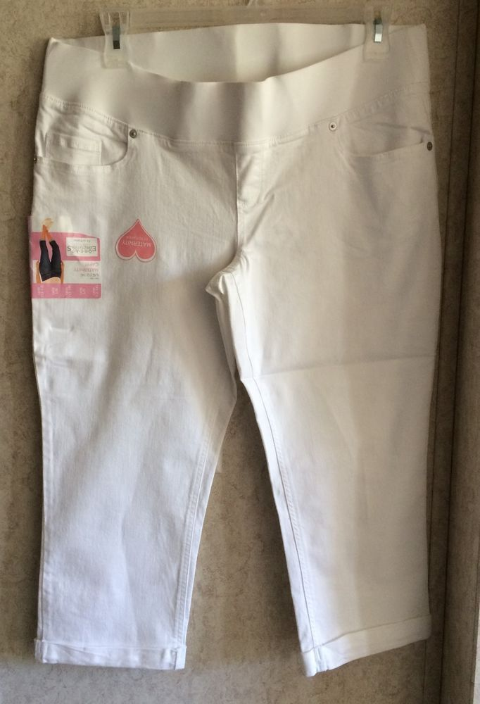e2ac9a62821ca Great Expectations Maternity Capris New Size L 12 14 Inseam 21.5 Low ...