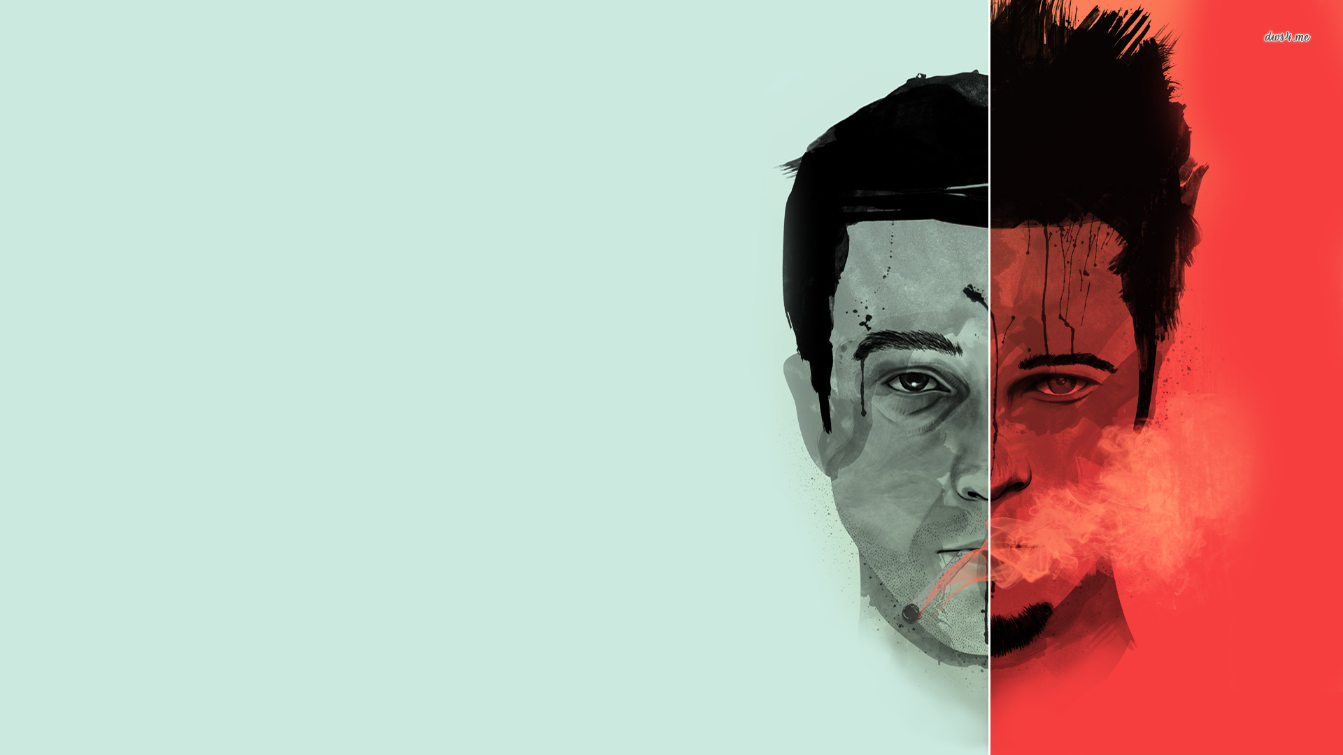 Tyler Durden And The Narrator Fight Club Wallpaper Fight Club