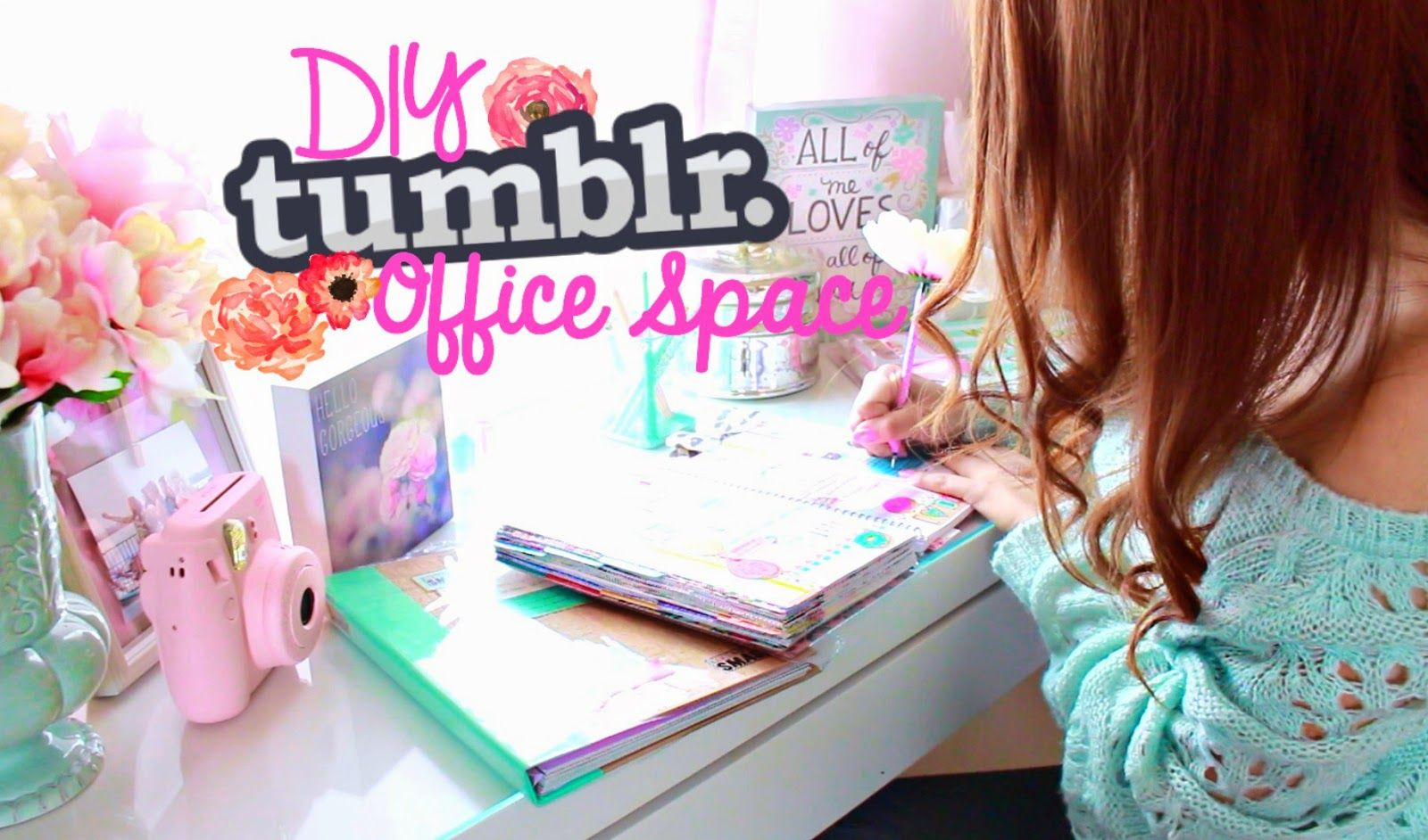 Diy tumblr inspired office desk space room decor for Zimmerdekoration diy