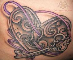 I Want This One To Be A Cover Up For The One I Have On My Chest Key Tattoos Lock Tattoo Key Tattoo Designs