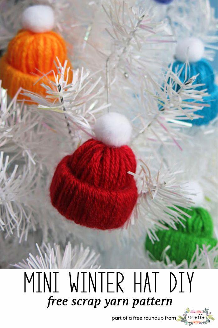 Christmas Crafts to Use Up Extra Yarn • Sewrella