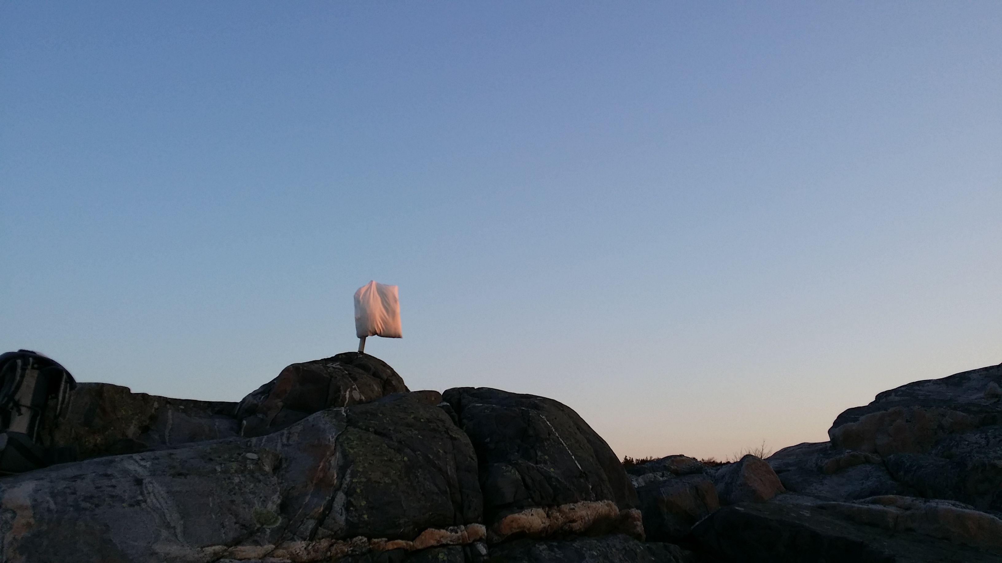 Smithska udden norrut i gryningsljus