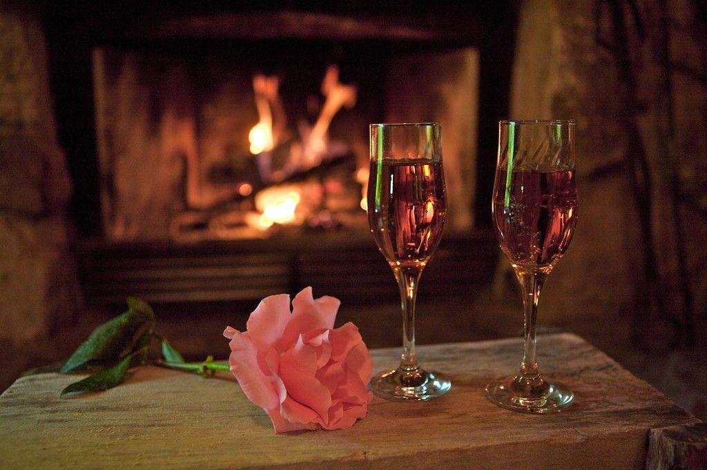 Красивая открытка романтический вечер
