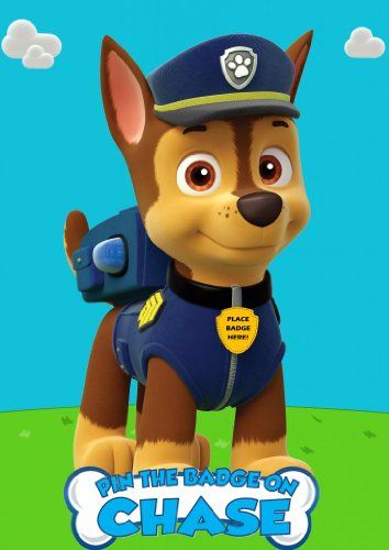 Pin The Badge On Chase Paw Patrol Custom Inspired Game For Birthday Party SGD Amazon Dp B00JW7EH42 Refcm Sw R Pi 75 Rub0K6JV8C