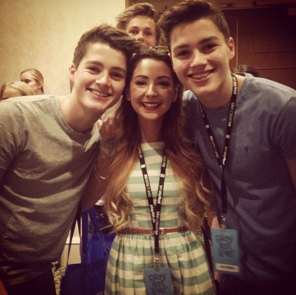 The Harries Twins and Zoella AND CASPER