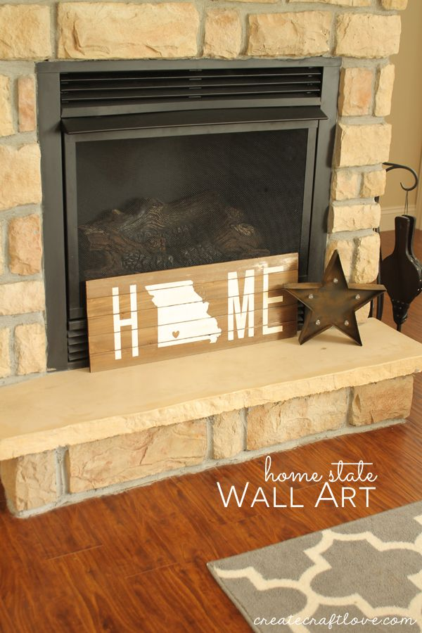 Home State Wall Art | Create, Walls and Crafts
