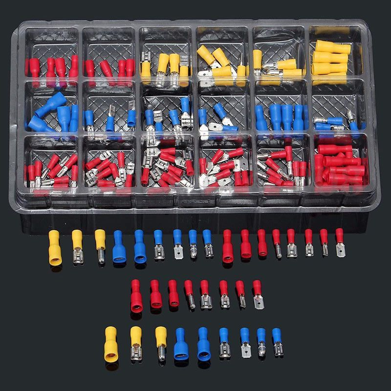 4 67 120pcs Set Assorted Insulated Electrical Wire Terminal Crimp Connector Spade Ebay Electron Electrical Wire Connectors Electricity Insulated
