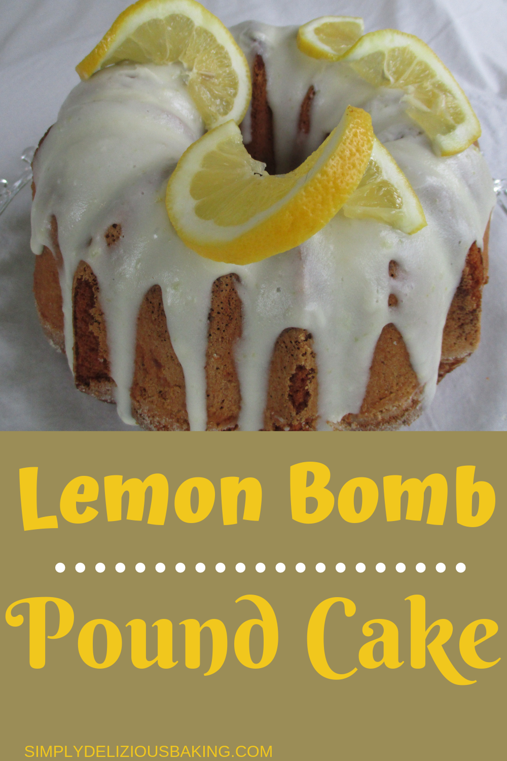 Easy Southern Lemon Pound Cake Easy Baking Recipes Sour Cream Pound Cake Lemon Bundt Cake Recipe