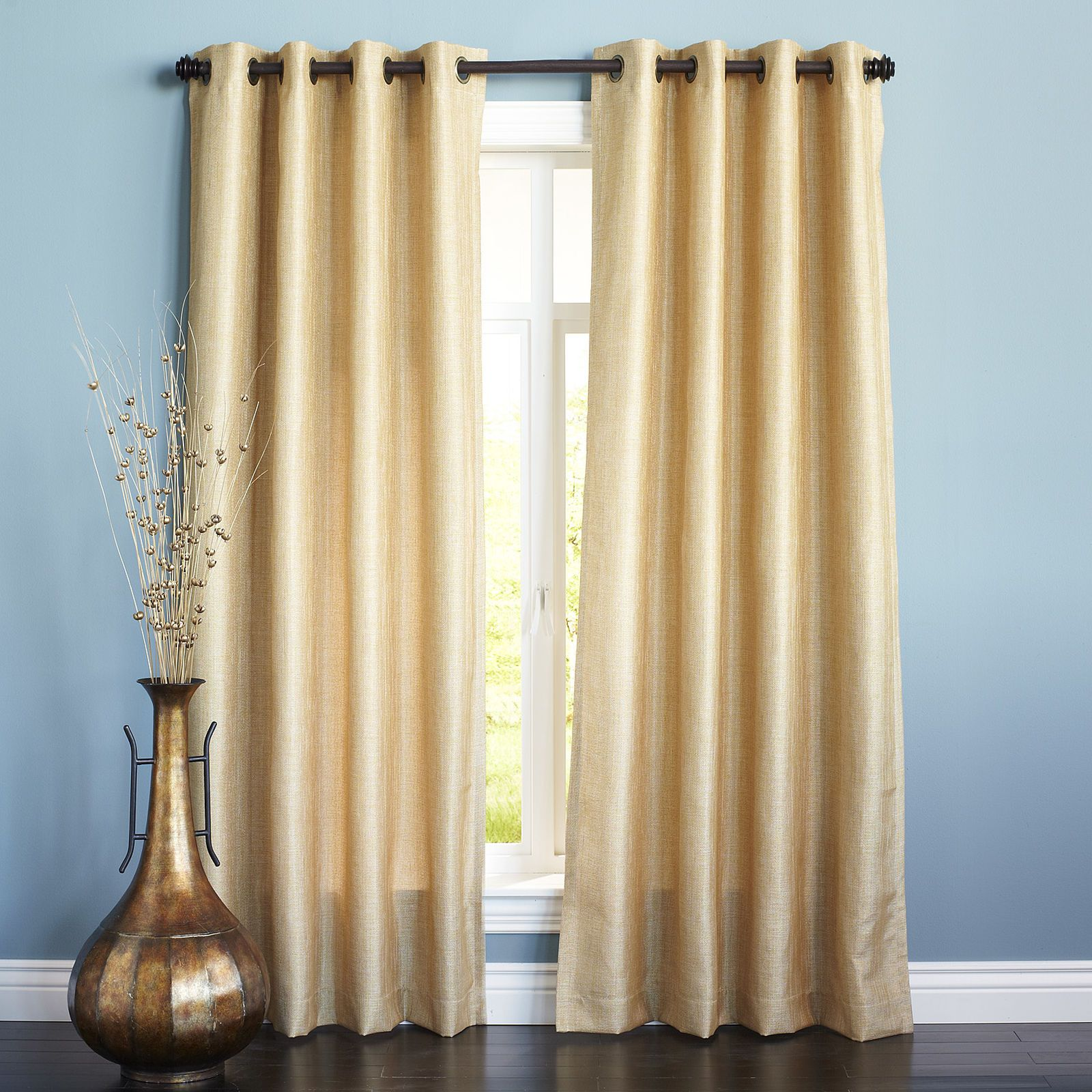 Shimmer Grommet Gold Curtain Gold Curtains Living Room Gold