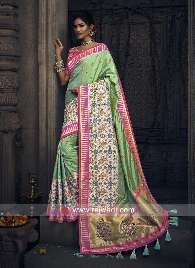c208b82944df66 Banarasi Silk Wedding Saree.