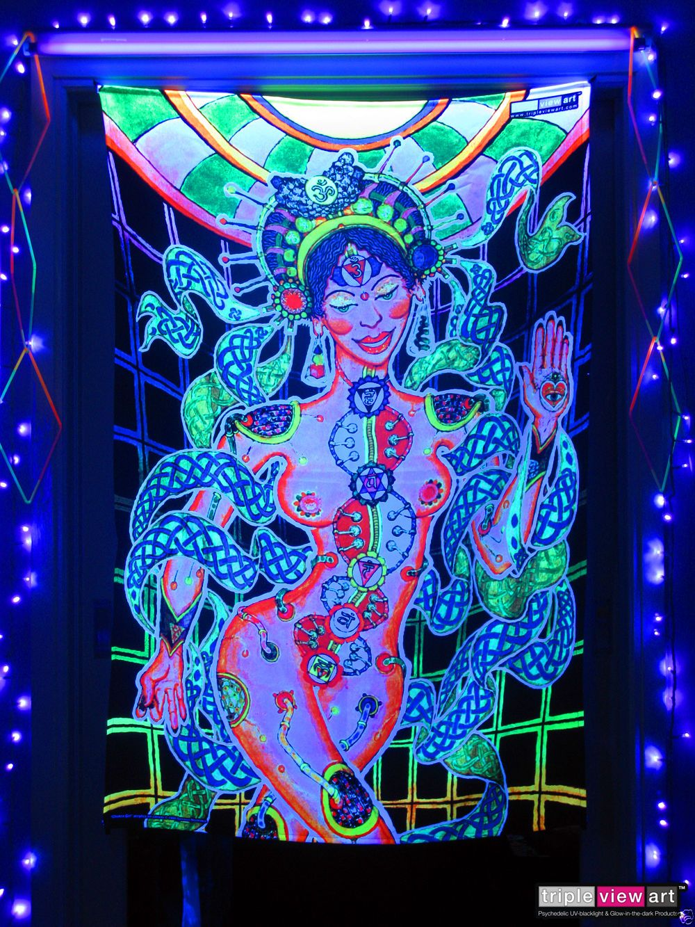 Details About Chakra Psychedelic Art Uv Black Light