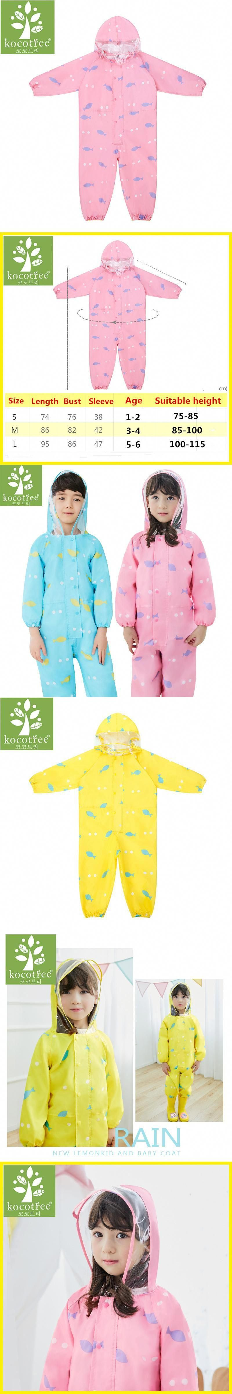 a681bfb81 1-6 Years Old Children Raincoat Kids Jumpsuit Boys Girls One-Piece ...