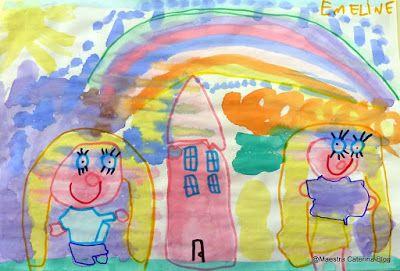 Maestra Caterina: Pitture con acquerelli ottenuti dai pennarelli riciclati