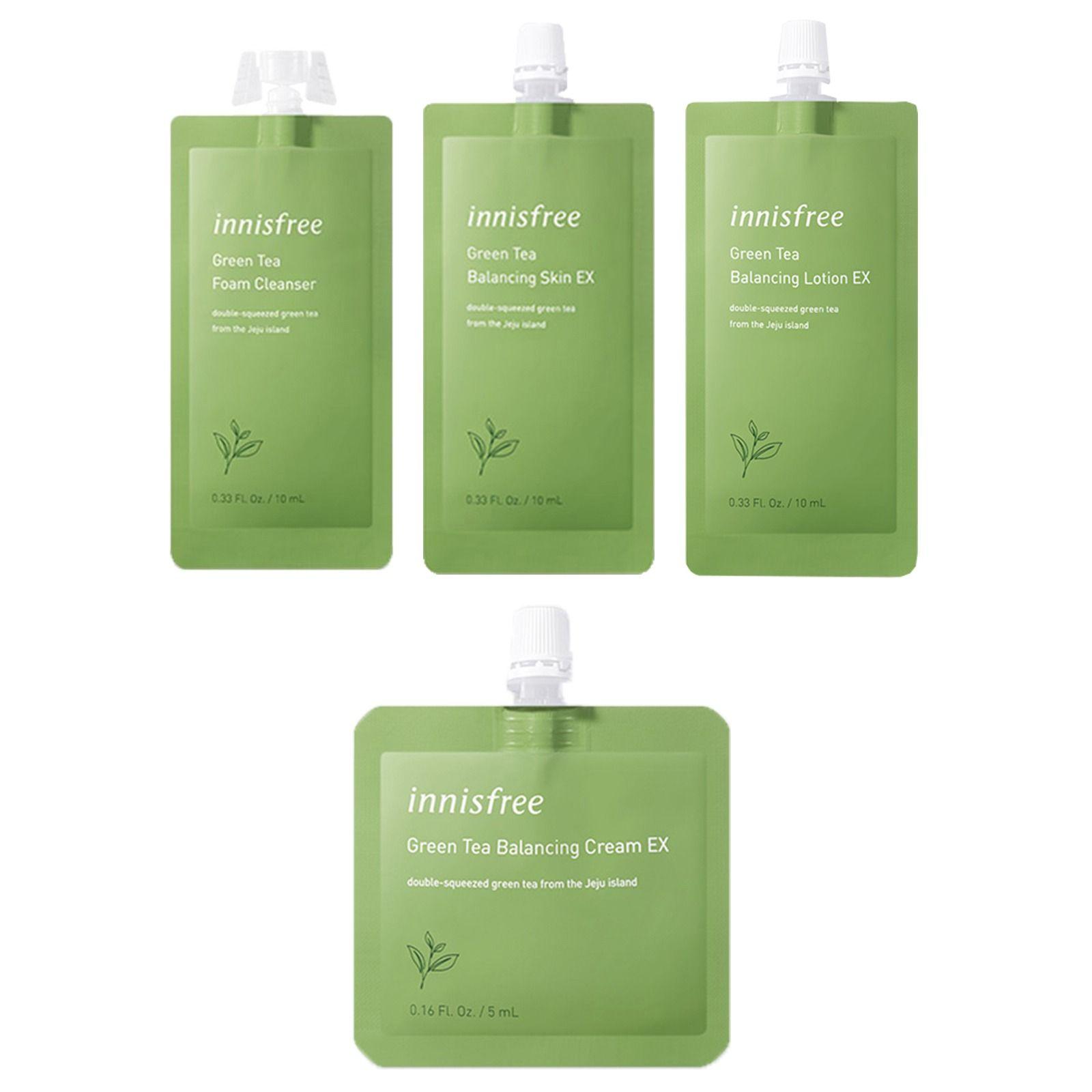 Green Tea Balancing Skin Care Set 7 Day Travel Kit Skin Balancing Skincare Set Moisturizing Toner