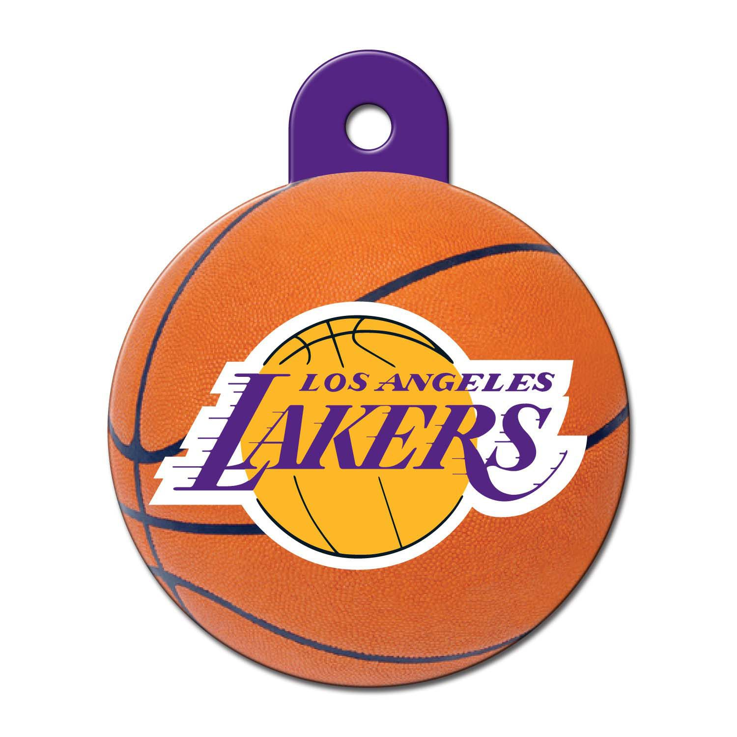Quick Tag La Lakers Nba Circle Personalized Engraved Pet Id Tag Large Petco Pet Id Tags Pet Id Id Tag