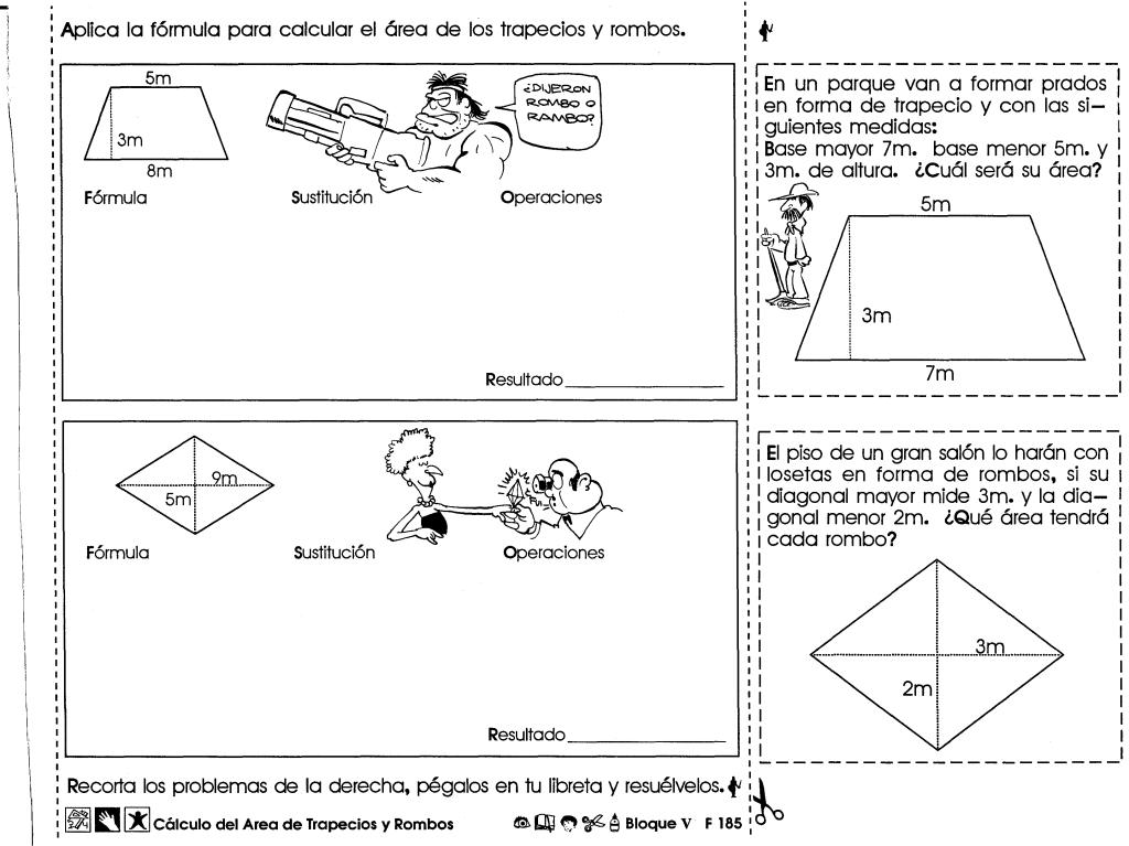 Ejercicios de matemáticas sobre cálculo del area de trapecios y ...