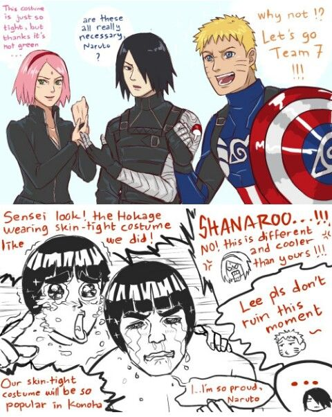Naruto x Captain America: Winter Soilder Crossover