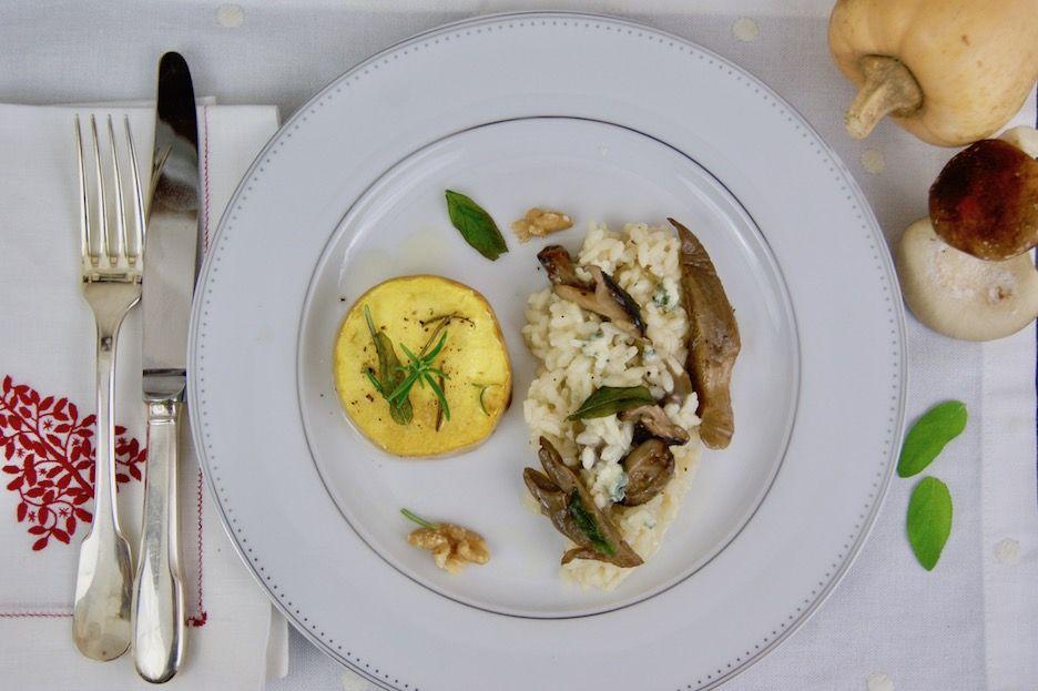 Steak De Butternut Grille Et Risotto Aux Champignons Risotto Champignons Butternut Risotto