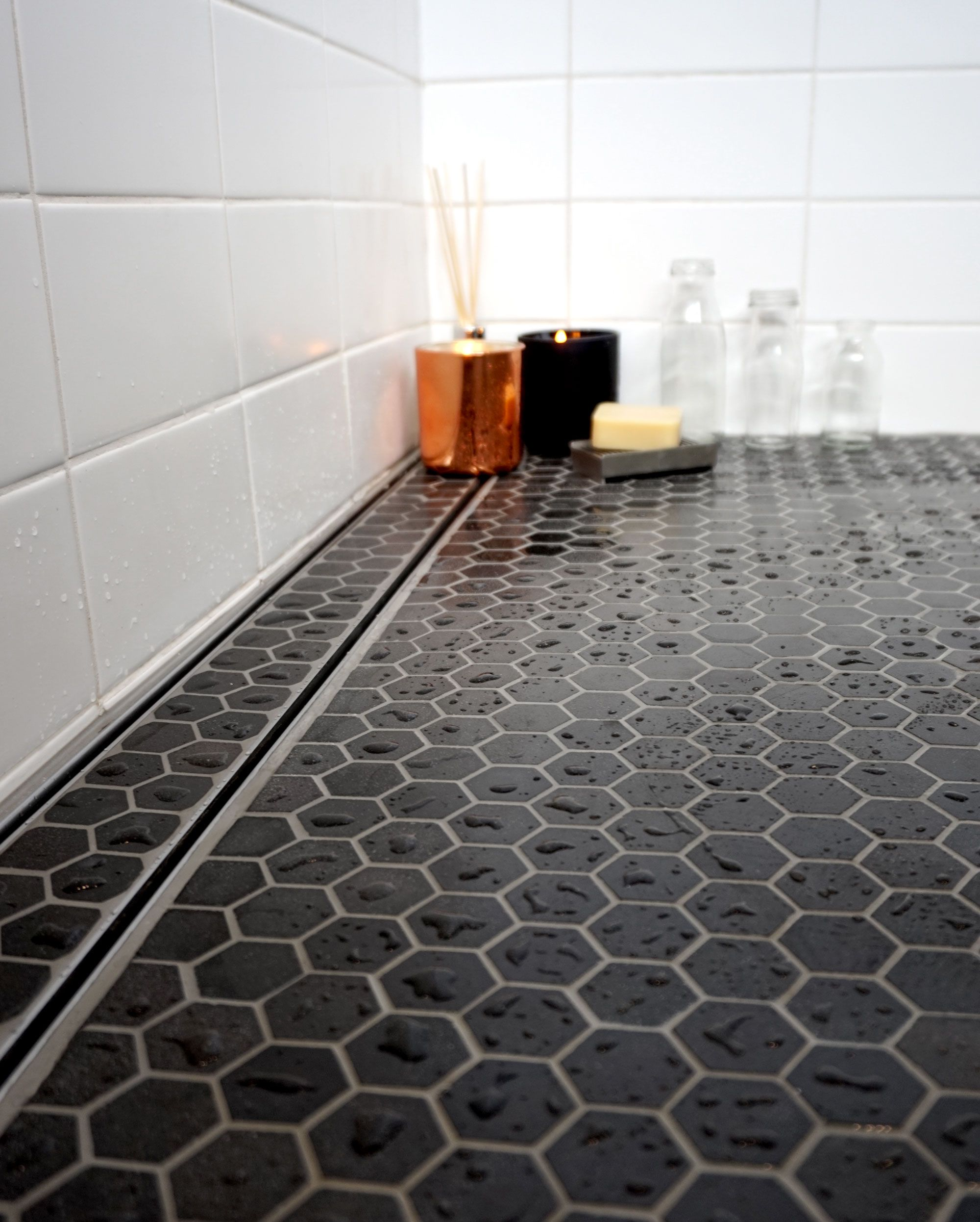 vision shower channel- tile insert on trend shower channel