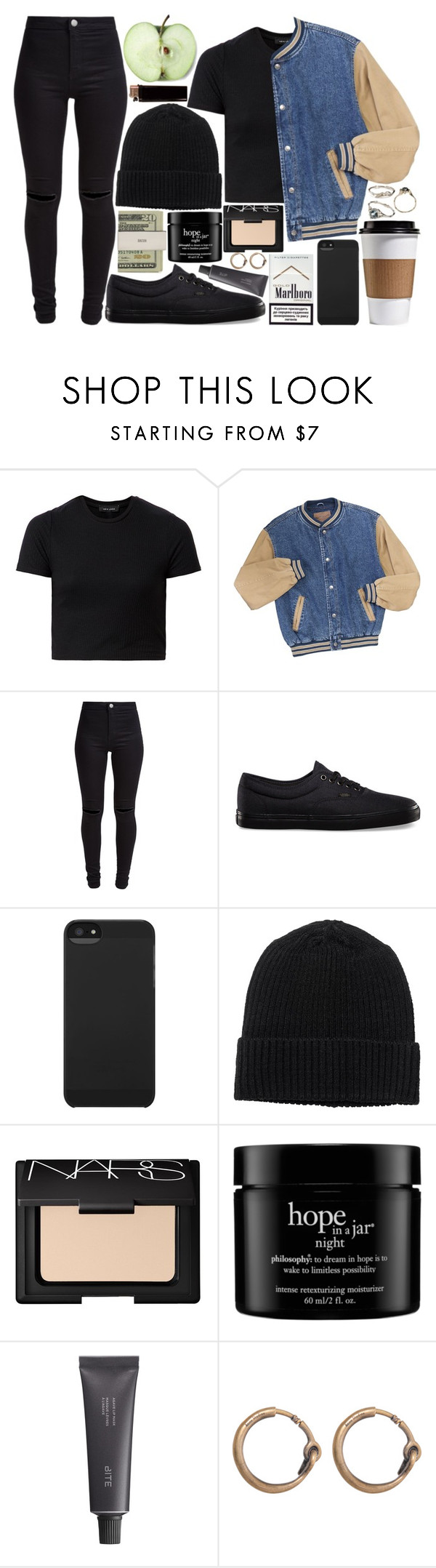 """double dragon"" by velvet-ears ❤ liked on Polyvore featuring New Look, Vans, Incase, Monki, NARS Cosmetics, Jack Spade, philosophy, Bite and Acne Studios"