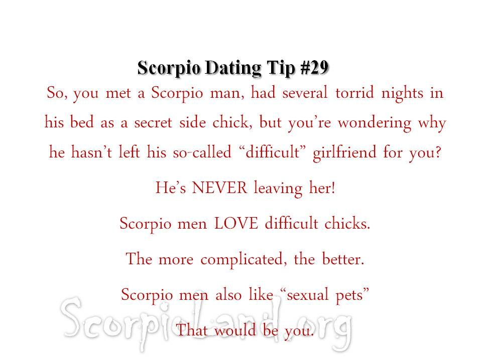 Tips to dating a scorpio man