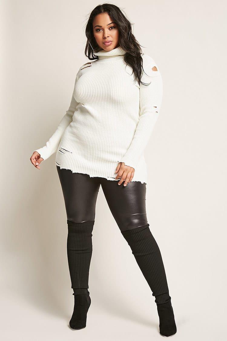 Product Nameplus Size Distressed Sweater Categoryclearancezero