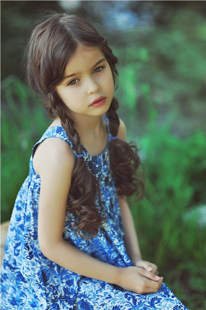 Alisa Bragina, a Russian child model.