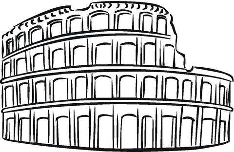 Colosseum Coloring page  School  Play Props  Pinterest