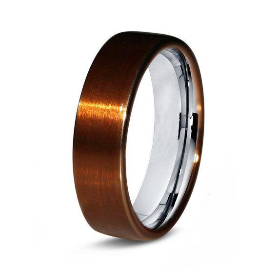 Copper Titanium Ring Copper Men Titanium Rings By Giftflavors 217 77 Copper Wedding Band Mens Wedding Bands Copper Wedding