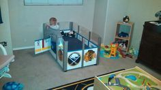 My boy's hockey bed