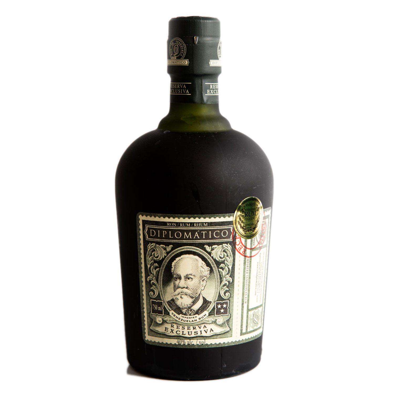 Drinking Diplomático Reserva Exclusiva Rum—with its dark