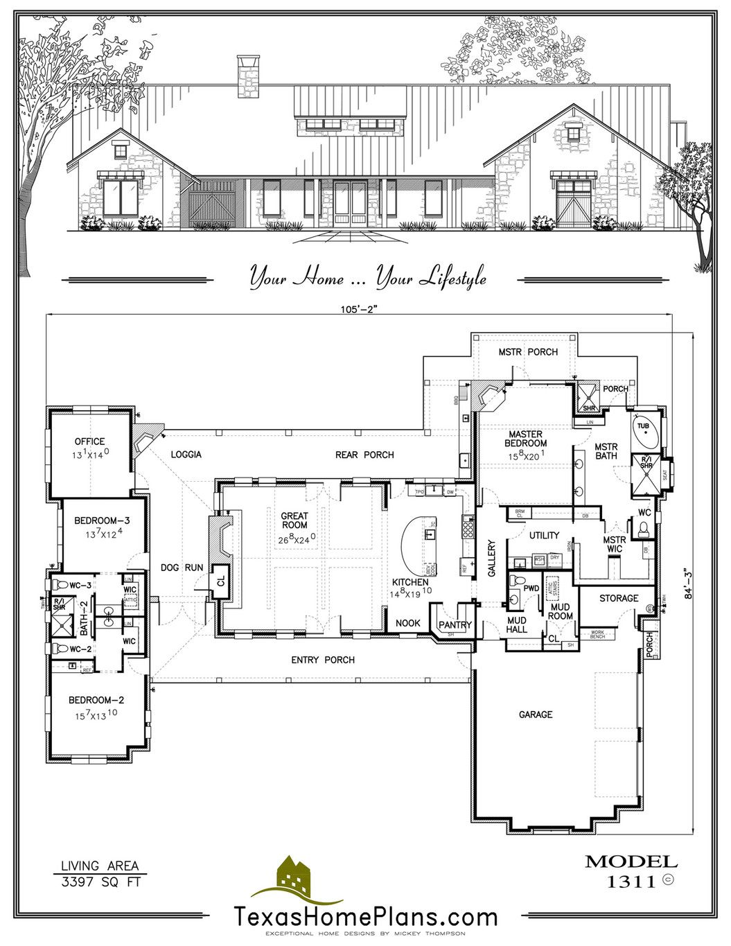 Texas Home Plans Texas Farm Homes Page 114 115 New House Plans Home Design Floor Plans Texas House Plans